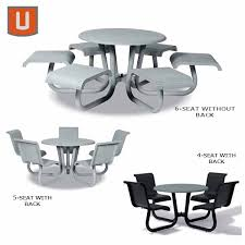 outdoor chair with table attached outdoor dining tables 42 attached seating portage collection