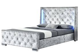 Bed Frame Australia Velvet Bed Frame Led Silver Crushed Velvet Bed Frame Velvet Bed