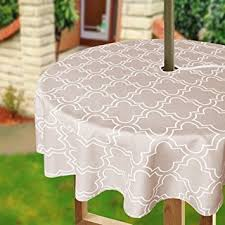 Zippered Patio Table Covers Amazon Com Eforcurtain 60inch Round Umbrella Table Cover With