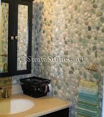 White Pebble Tiles Bathroom - bathroom wall tile green and white pebble tile bathroom wall