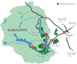 Sas Route Map by Walking Elan Valley
