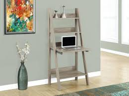 Leaning Bookshelf With Desk Desk Splendid Dark Taupe 26 Ladder Desk With Fold Up Work