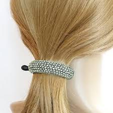 hair claw color rhinestone half moon hair claw clip luxury jeweled women