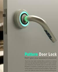 pattern lock design images behind locked doors yanko design