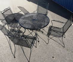 Mesh Patio Table Iron Mesh Chairs With Wi Mesh Top Table
