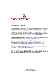 sceptre x405bv fhdr user manual 54 pages