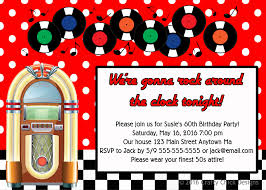1950s juke box sock hop birthday party invitations crafty
