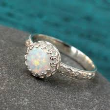 vintage promise rings opal ring sterling silver vintage from silversted on etsy