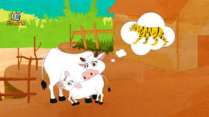 sathyameva jayathe cow and tiger story telugu moral story for