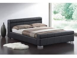 Low Bed Frames Uk Time Living Durham 5ft Kingsize Black Faux Leather Bed Frame By