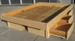 Bed Platform With Storage King Size Platform Bed Plans With Storage Home Design Ideas