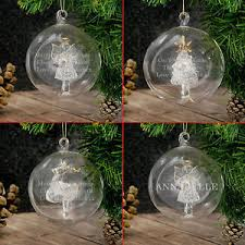 personalised engraved luxury glass tree baubles message