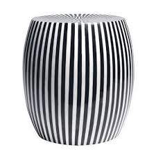 black and white side table black and white striped decorative stool garden stools pinterest