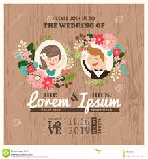 Marriage Invitation Card Design Cartoon Newspaper Wedding Invitation Card Design Stock Vector