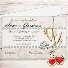 Anniversary Invitation Cards Samples 10 Personalised 60th Diamond Wedding Anniversary Invitations N18
