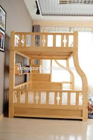 2017 sale solid wood double deck bunk bed for mother and child