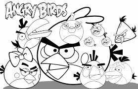 angry birds coloring pages coloring home