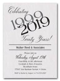 anniversary party invitations shimmery white then now business anniversary party invitations