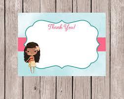 moana thank you card etsy