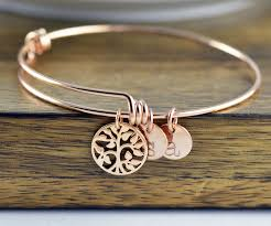 bracelet life images Rose gold family tree bracelet mother 39 s bracelet tree of life jpg