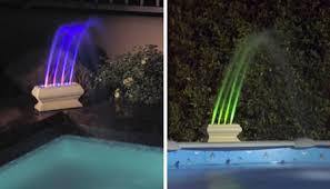Floating Pool Light Lighting Waterfalls Fountains