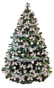 christmas tree with white and silver decorations pictures of trees