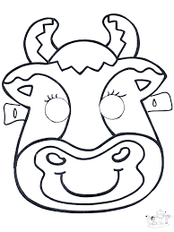 printable bull mask printable cow pictures kids coloring