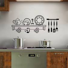 decor mural cuisine cuisine shelf vinyl wall decals removable wallpaper for kitchen