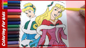 disney princess aurora cinderella christmas coloring pages from