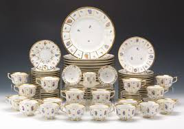 a large set of royal copenhagen porcelain dinnerware henriette