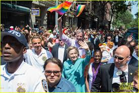 Hillary Clinton Hometown by Hillary Clinton Participates In Nyc Pride March 2016 Photo