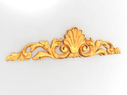 wood carving baroque ornament 3d model 3ds max files free