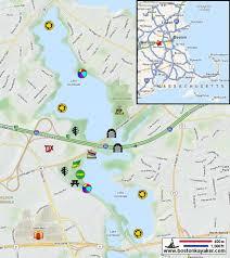 Natick Mall Map Boston Kayaker Kayaking On Lake Cochituate At Chochituate State
