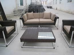 Barcelona Outdoor Furniture by Barcelona Outdoor Round Sectional Synthetic Wicker Rattan Sofa