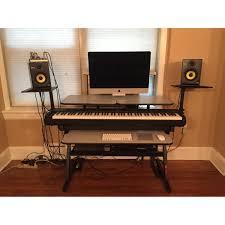 Studio Monitor Desk by Quik Lok Z Ws71l Keyboard Workstation Desk Aptdeco