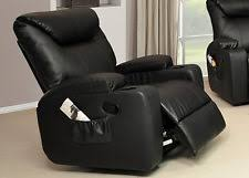 Black Leather Recliner Leather Recliner Chair Ebay