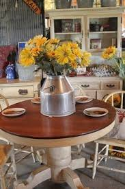 Redo Kitchen Table by Honey Oak Round Pedestal Kitchen Table Refinished With General