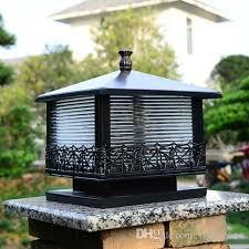 Outdoor Pillar Lights 2018 Black Bronze Shell Led Outdoor Pillar Lights European Vintage