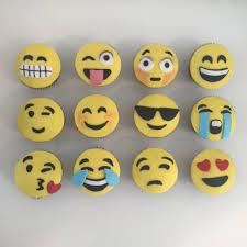 emoji birthday cake and matching cupcakes three sweeties