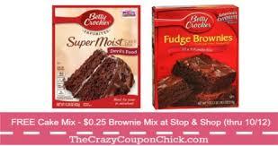 free betty crocker cake mix u0026 brownie mix only 0 25 at stop