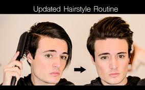mens hair updated hairstyle routine mens long ish hair youtube