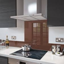 Kitchen Splashback Ideas Uk by Chocolate Brown Colour Splashback Glass Upstand 140 X 1000mm