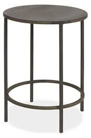 End Tables For Living Room Slim Round Natural Steel End Tables Modern End Tables Modern