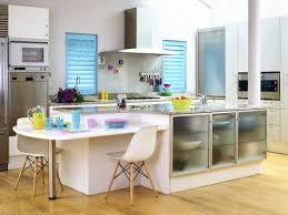 kitchen design breakfast bar appliances fresh and cheerful kitchen design with colorful