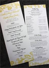 Diy Wedding Ceremony Program Printable Diy Wedding Programs Simple But Elegant 25 00 Via