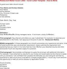 sample waiter resume cover letter waitress waitress cover letter