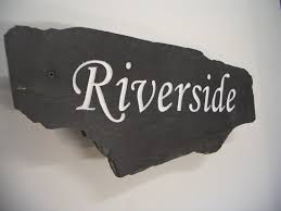 natural stone slate house signs for addresses with names and