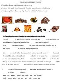 thanksgiving food recipes esl resources