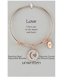 heart charm bangle bracelet images Unwritten pav moon heart charm bangle bracelet in rose gold tif