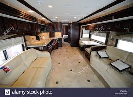 motor home interior interior of a motorhome coach stock photo 16134655 alamy
